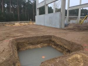 Absteckung für Stützen auf Fundament